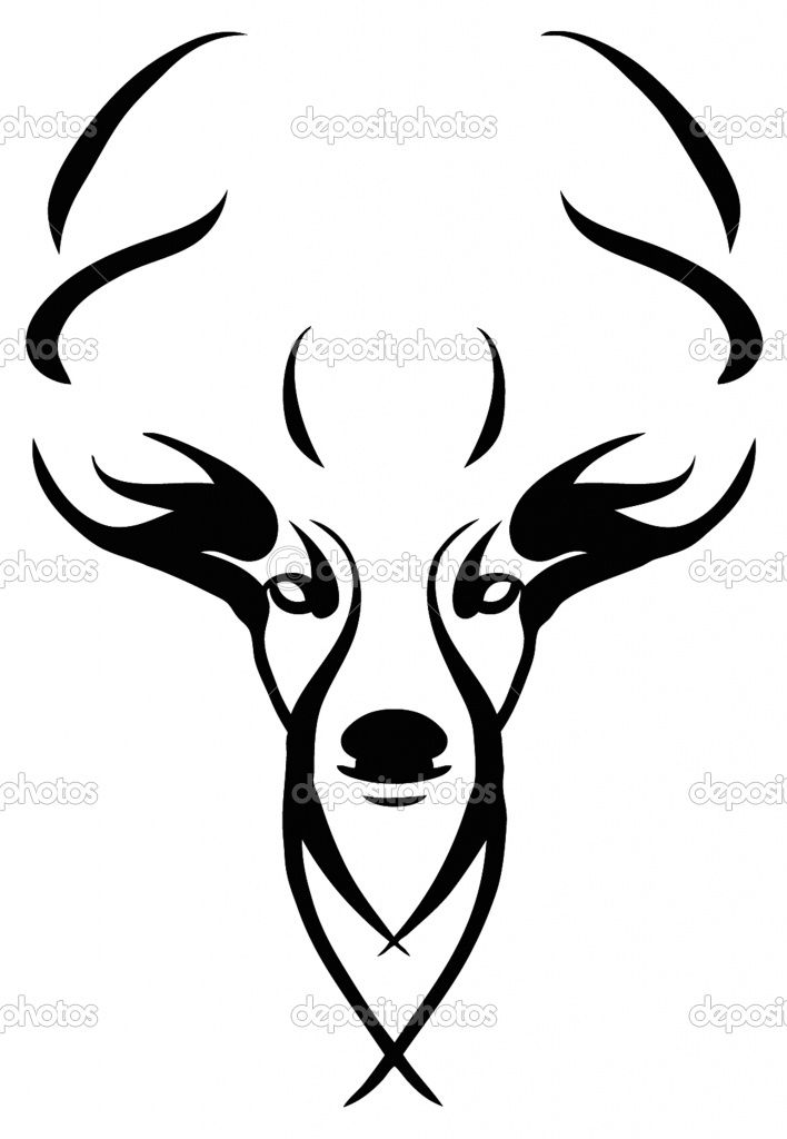 Deer Skull Drawings.
