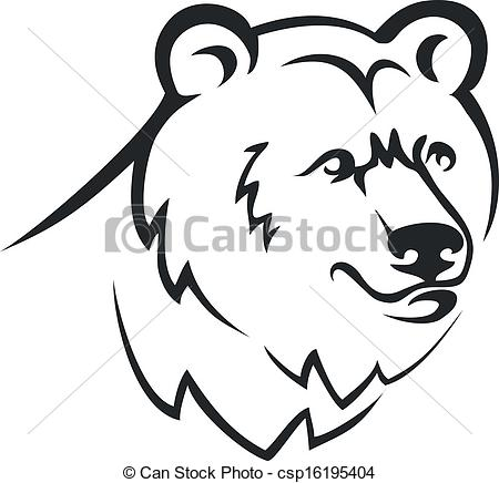 Vector Clipart of Bear head. csp16195404.