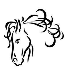 Horse Line Drawings Clip Art.