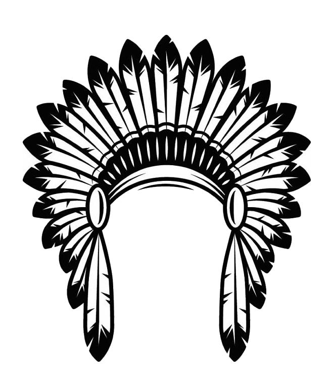 Indians clipart headdress, Indians headdress Transparent.