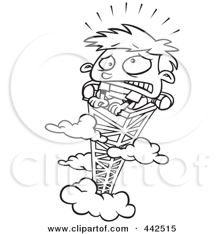 Scared of heights clipart.