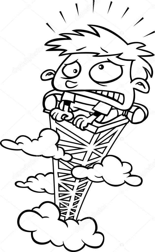 Fear Of Heights Clipart in heights clipart collection.