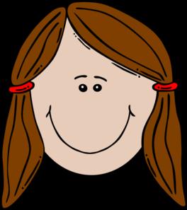 Cute Girl Head Clipart.