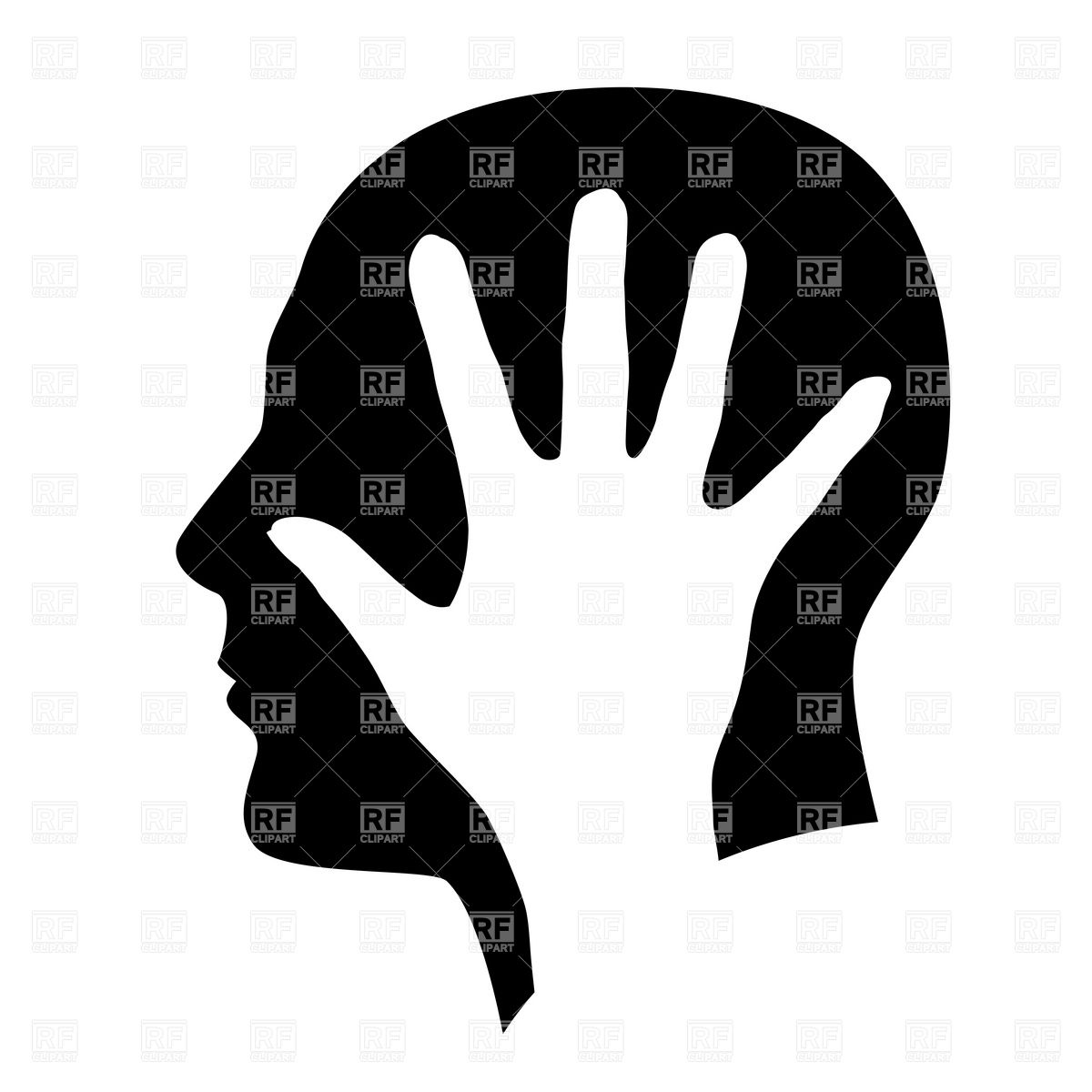 Head in hands clipart 2 » Clipart Station.