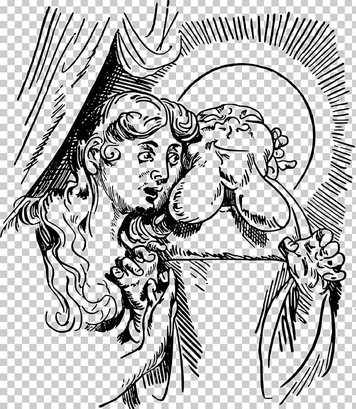 Der Heilige Antonius Von Padua Drawing The Head And Hands.