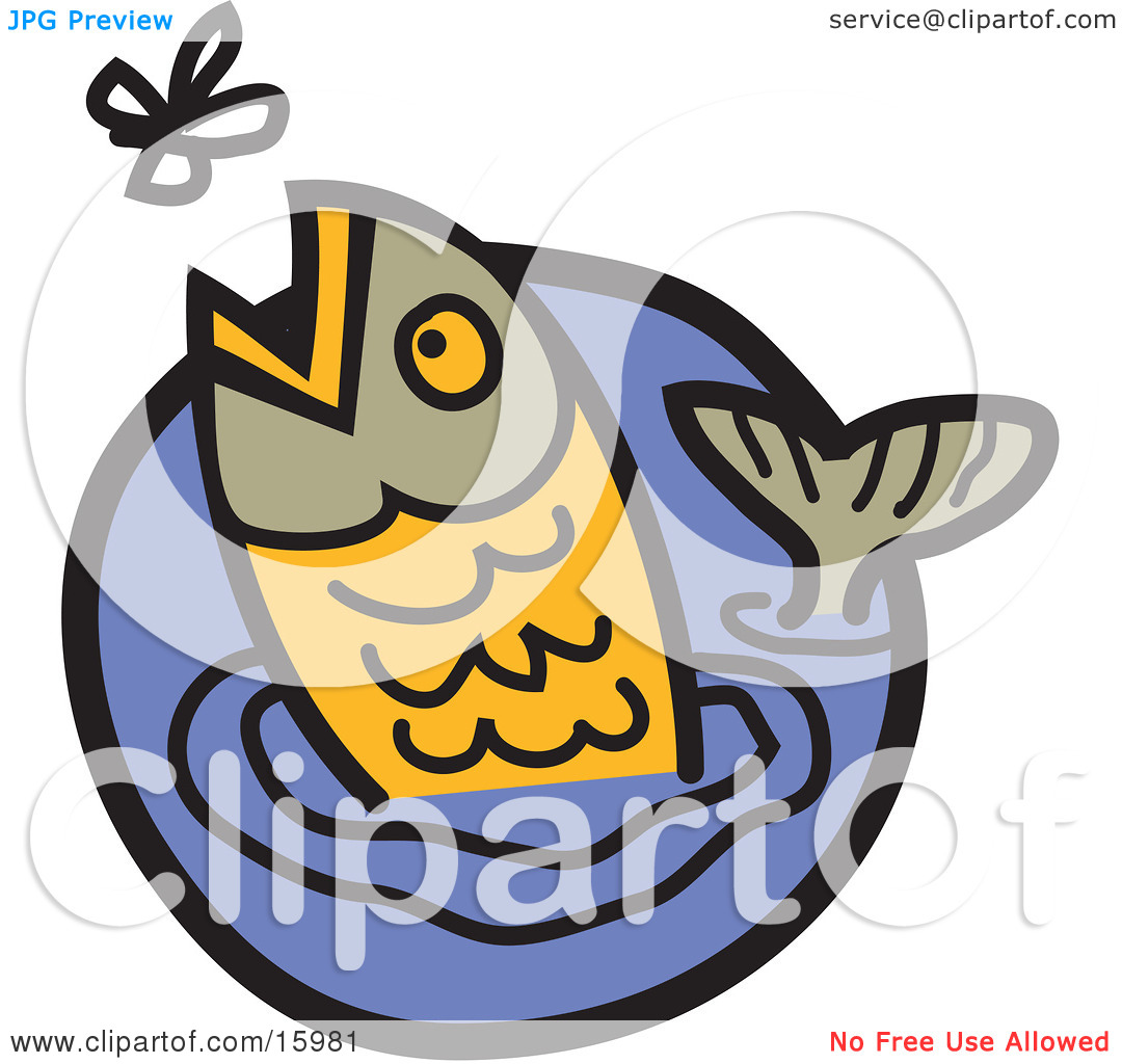 Fish Head Out Of Water Clipart Free.