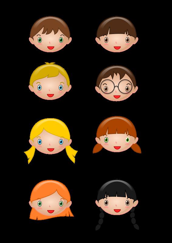 head kids cartoon clipart 20 free Cliparts | Download ...
