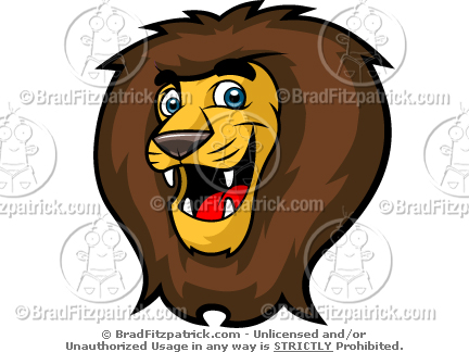 Kid's Lion Head Mascot Clip Art!.