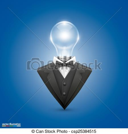 Vector Clip Art of Jacket with head lamps art. Vector illustration.
