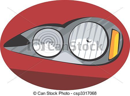 Stock Illustration of Headlight.