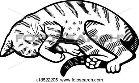 Clipart of Cat Nap k18522205.