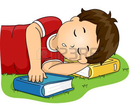 Little Boy Head Sleeping On Side Clipart.