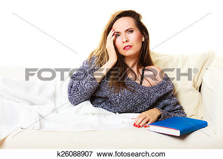 Picture of Woman suffering from head pain taking power nap.