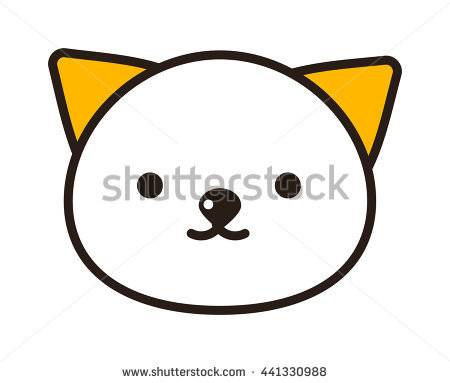 Vector Portrait Of Exotic Shorthair Kitty Head. Cute Bi.