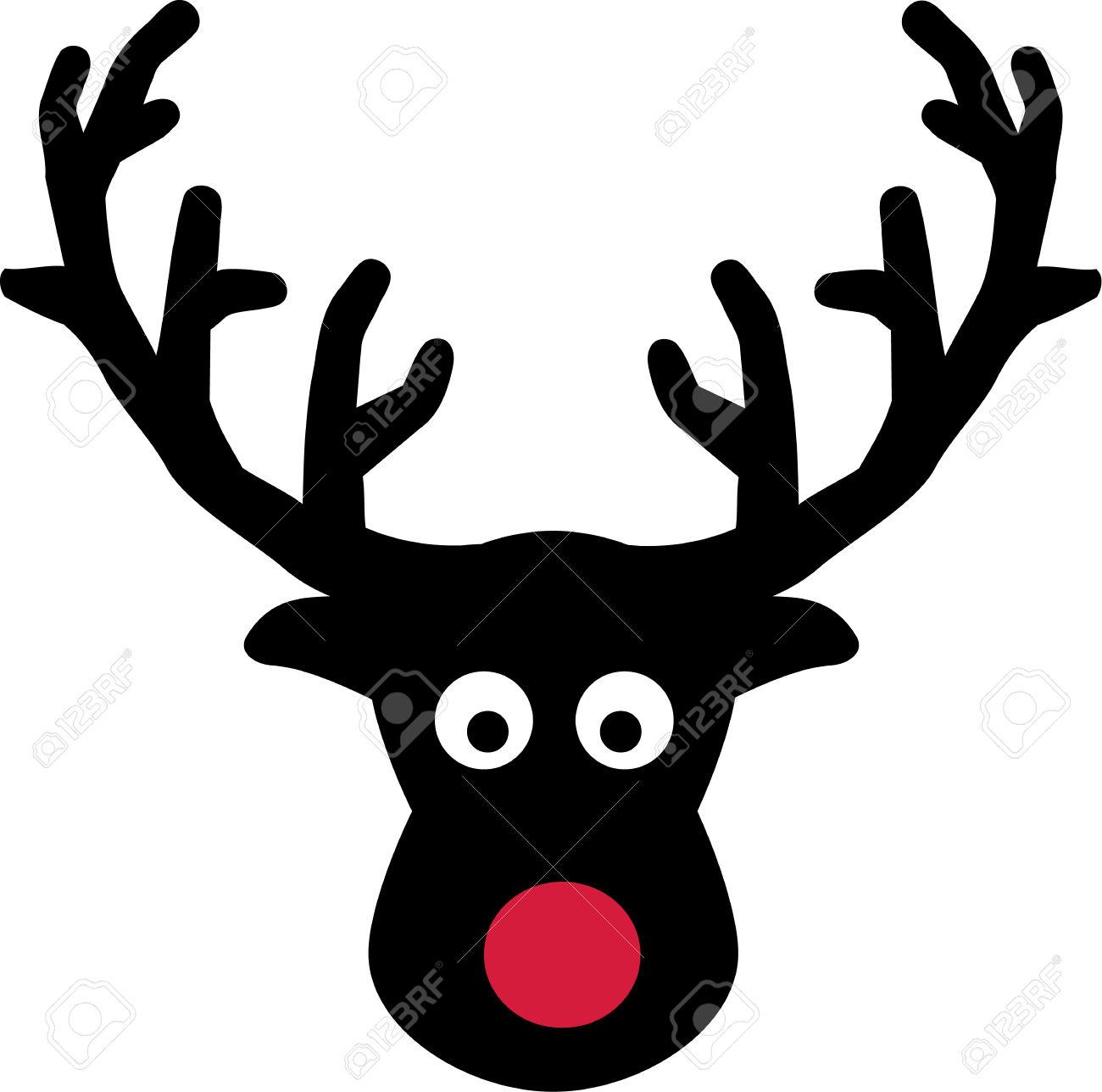 Vector clipart elk head.