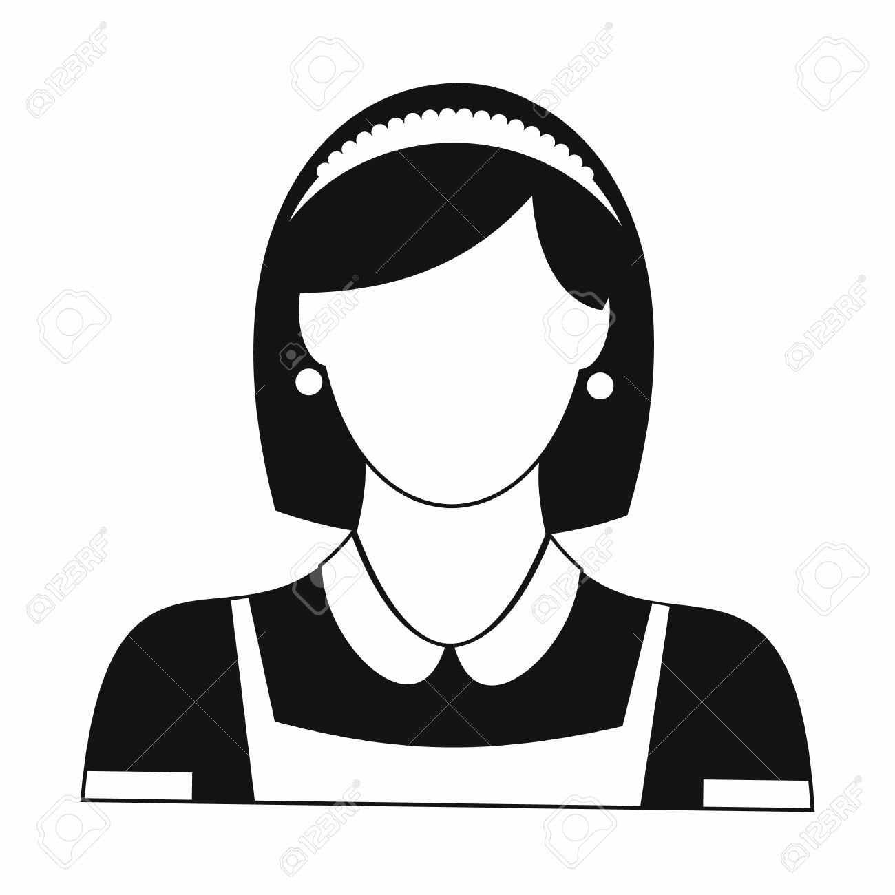 Cleaning Household Service Maid Black Simple Icon Royalty Free.