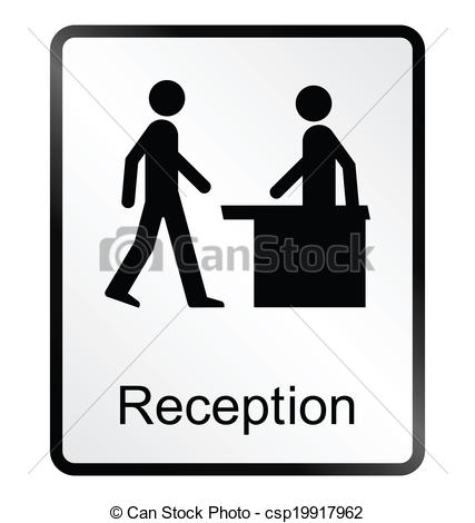 Clip Art Vector of Reception Information Sign.