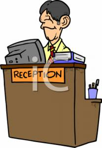 Reception Desk Clipart.