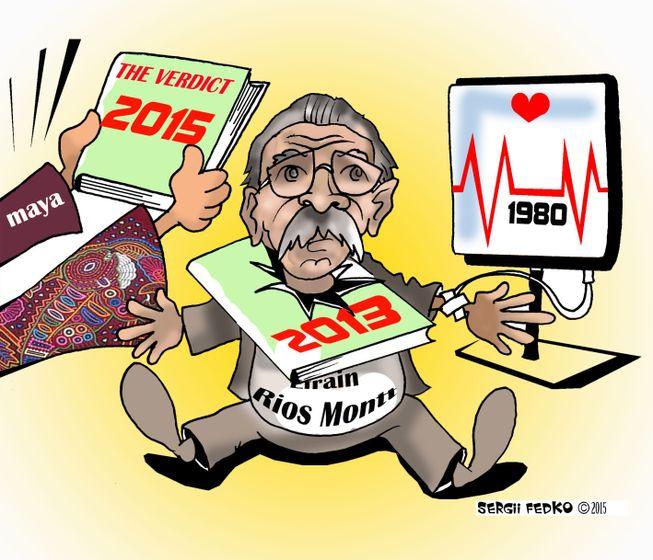 Cartoon: Former Guatemalan Head of State Efraín Ríos Montt.