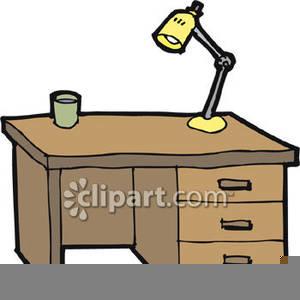 Clipart Head On Desk.