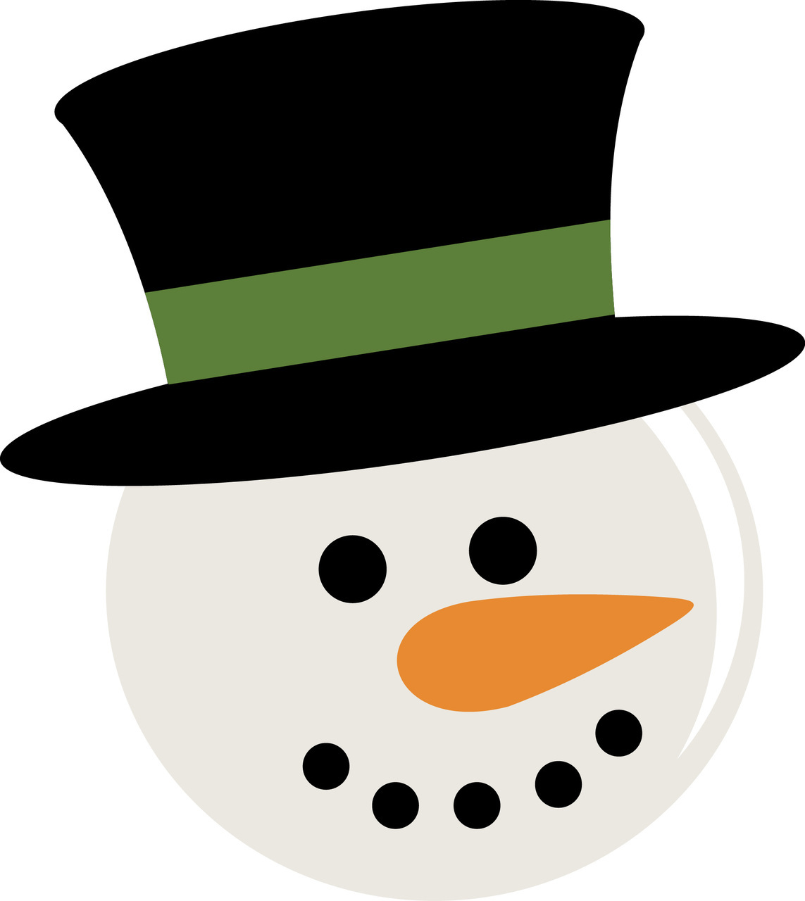 Snowman Head Ornament Clipart.