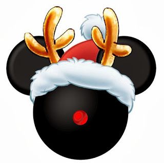 Mickey mouse head shadow clipart christmas.