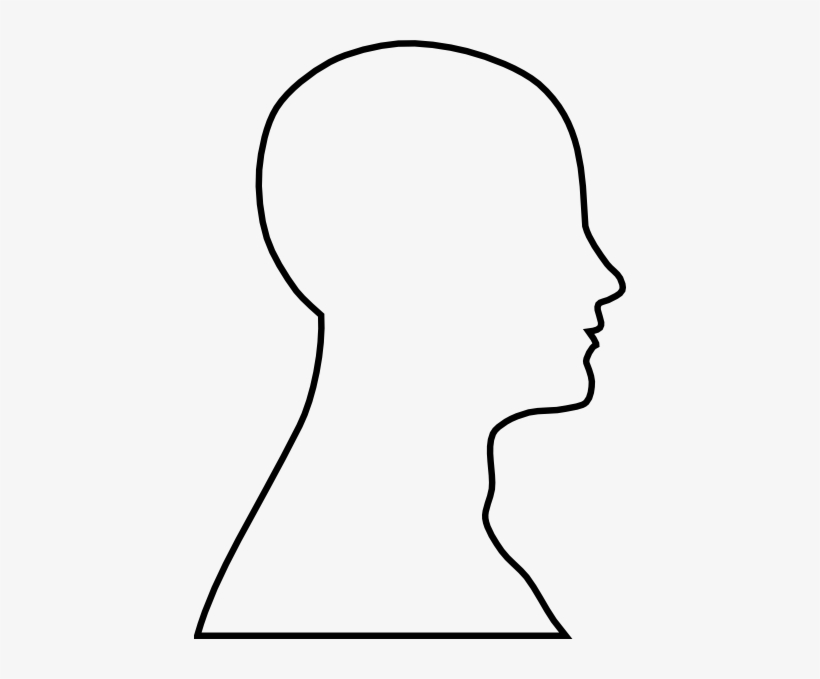 Head Outline Clip Art.