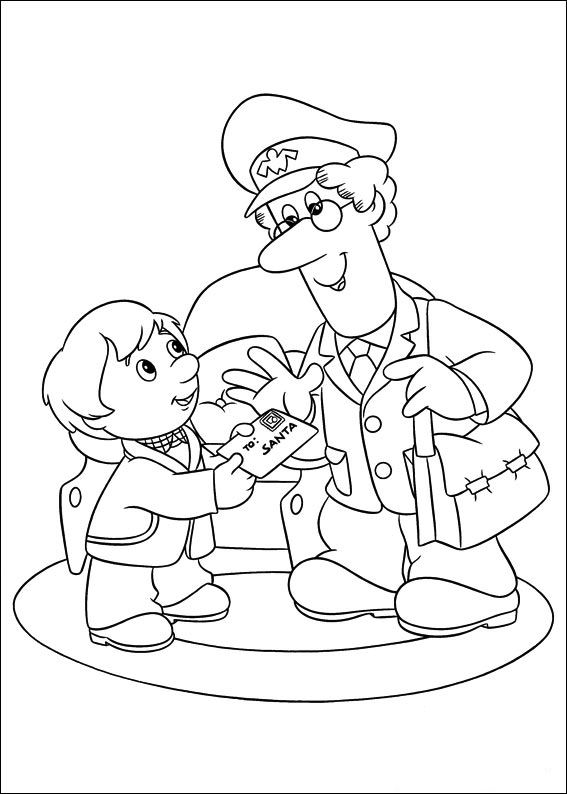 ▷ Coloring Pages Postman Pat: Animated Images, Gifs, Pictures.