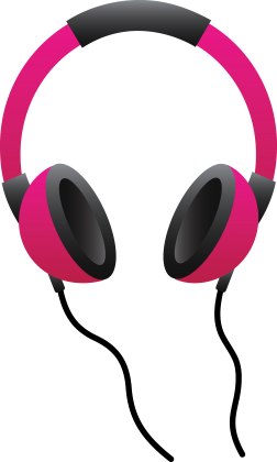 Cartoon Headphone Clipart.
