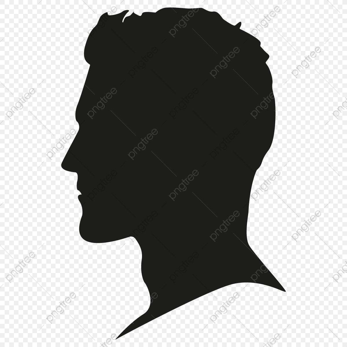 Male Silhouette Head Vector Png Free, Male Silhouette Head, Person.
