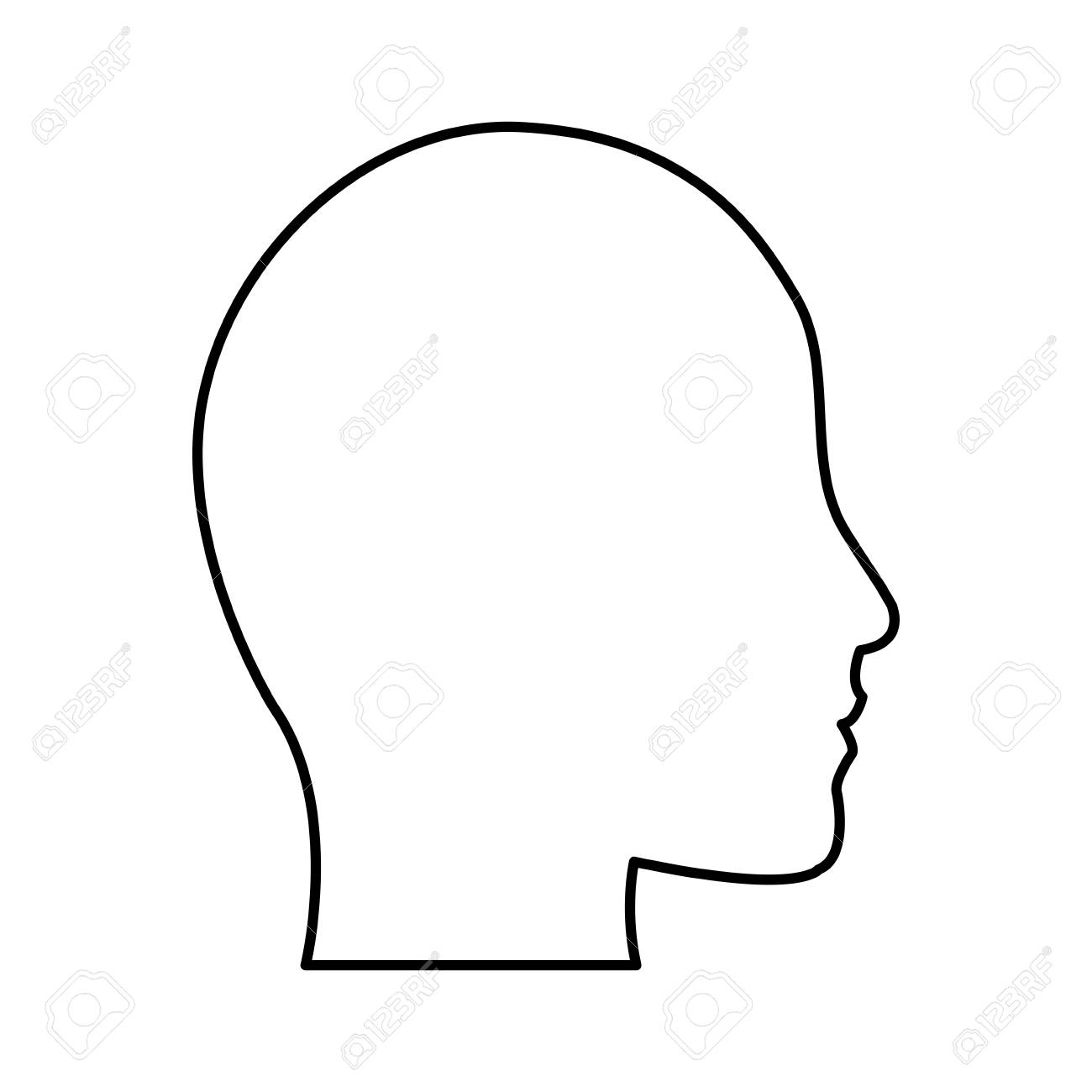 human head profile silhouette icon image vector illustration...
