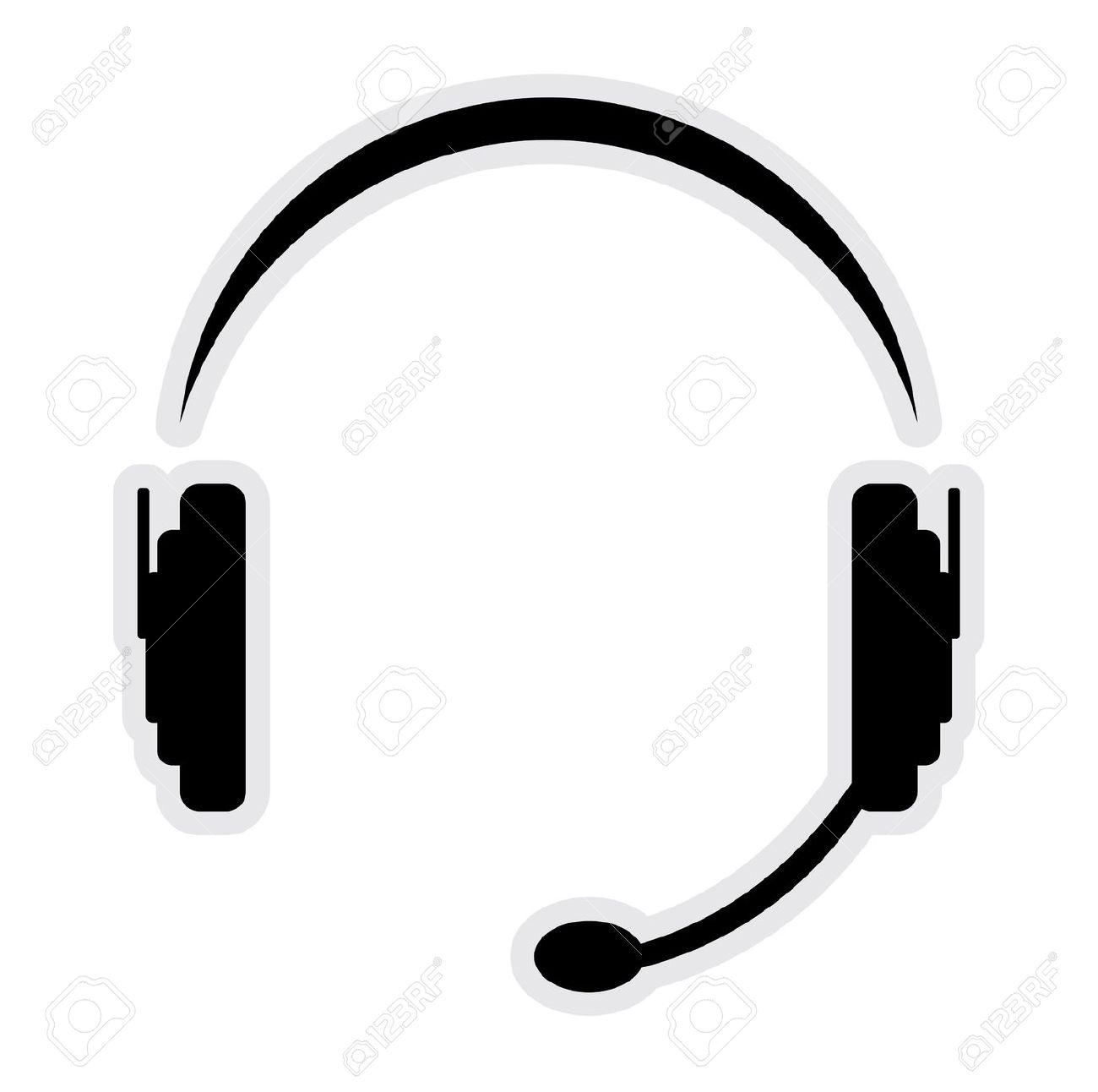 Telephone headset clipart.