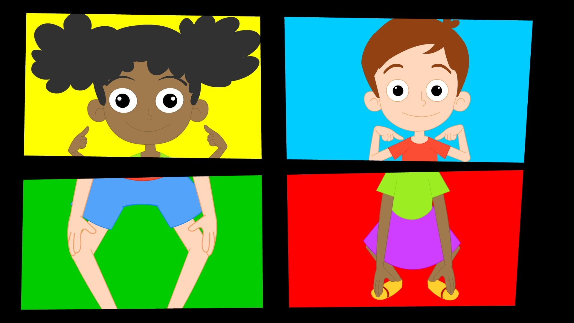 Head Shoulders Knees And Toes Clipart.