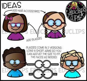 Kids Heads & Shoulders Clip Art Ultra Bundle {Educlips Clipart}.