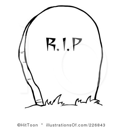 Gravestone With Flower Clipart.
