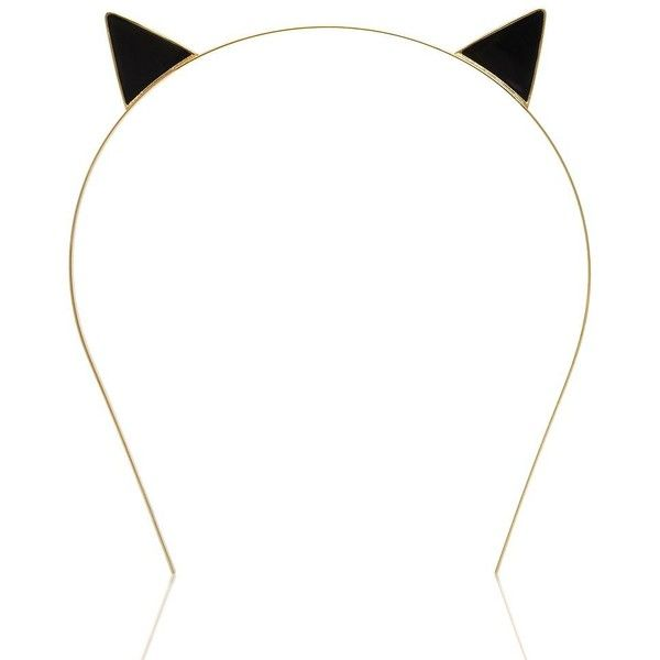 Kate Spade Cat Ear Headband ($68) ❤ liked on Polyvore featuring.