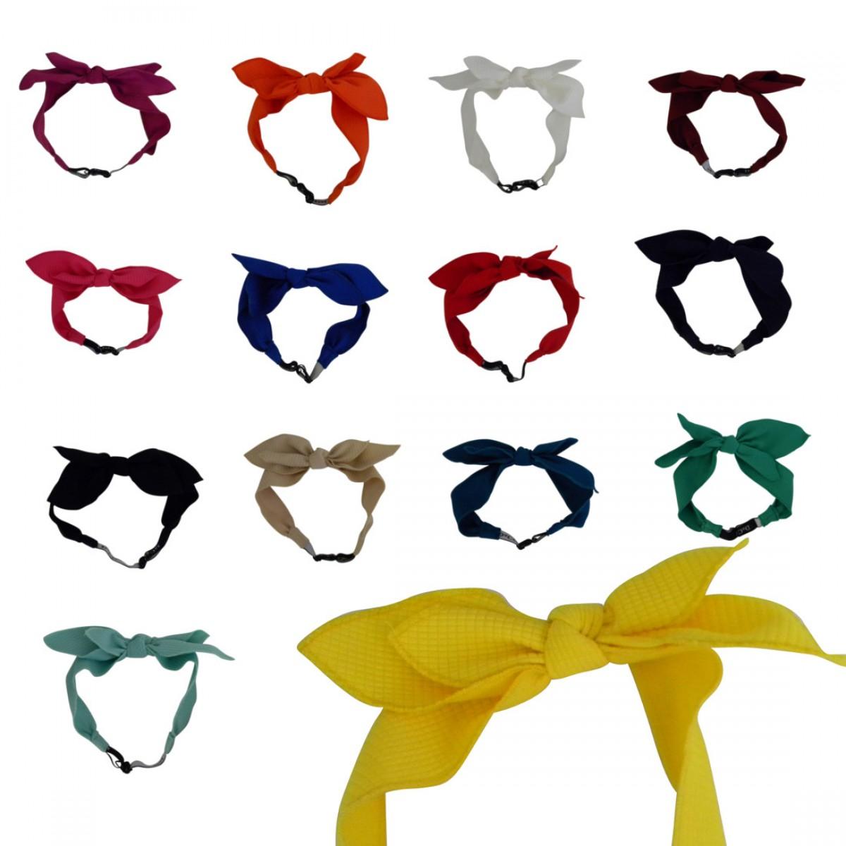 Textured Bow Junior Headwrap.