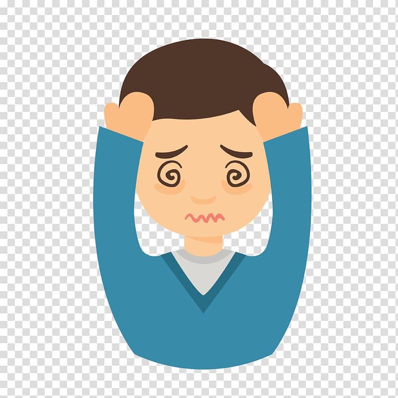 Profile of man illustration, Pain Migraine Headache Symptom Common.