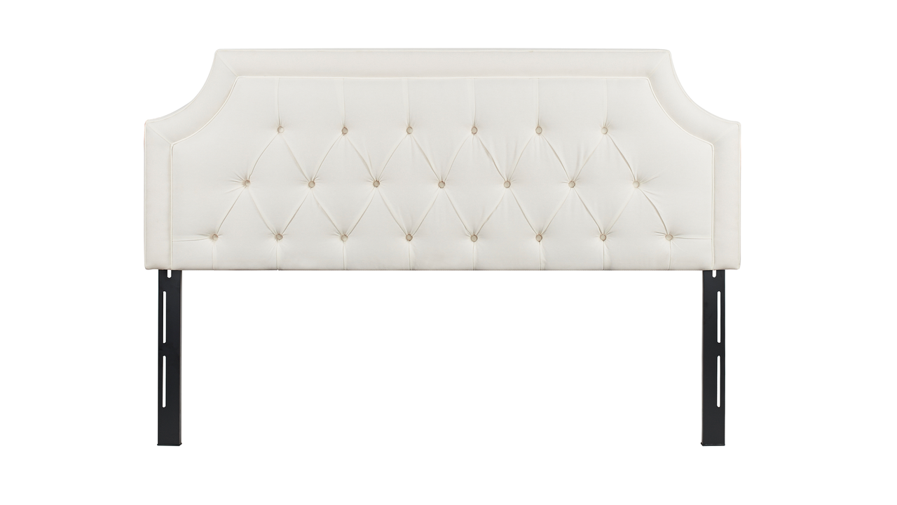 Kaye Tufted Headboard, Antique White (King Size).