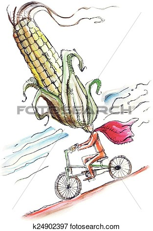 Corn head clipart.