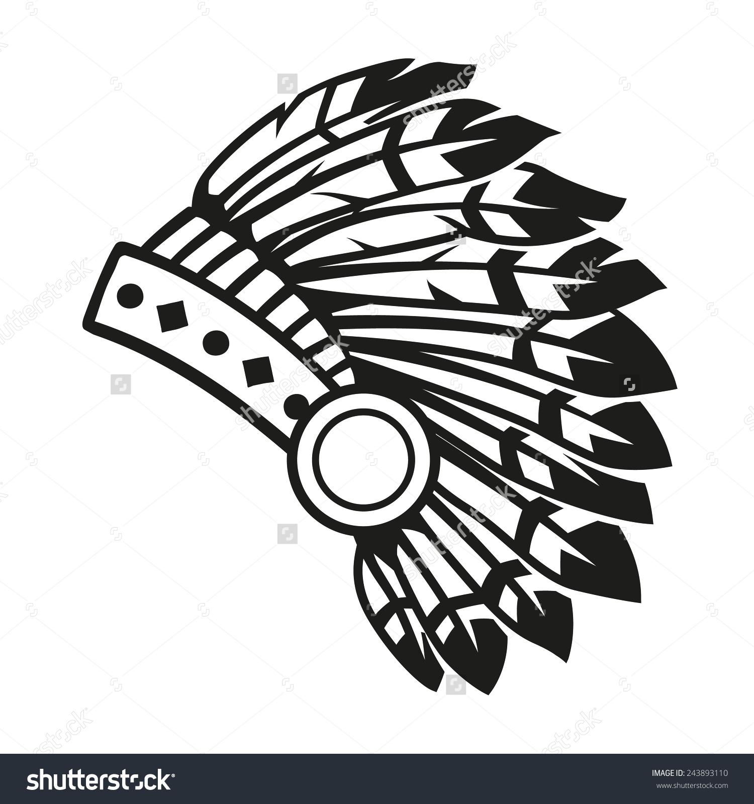 Indian head dress clipart.