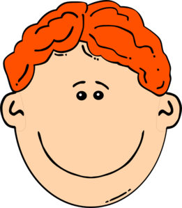 Red Headed Boy Clipart.