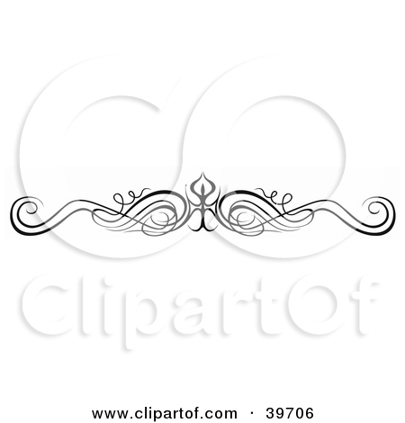 Clipart Illustration of a Black Wavy Lower Back Tattoo Or Website.