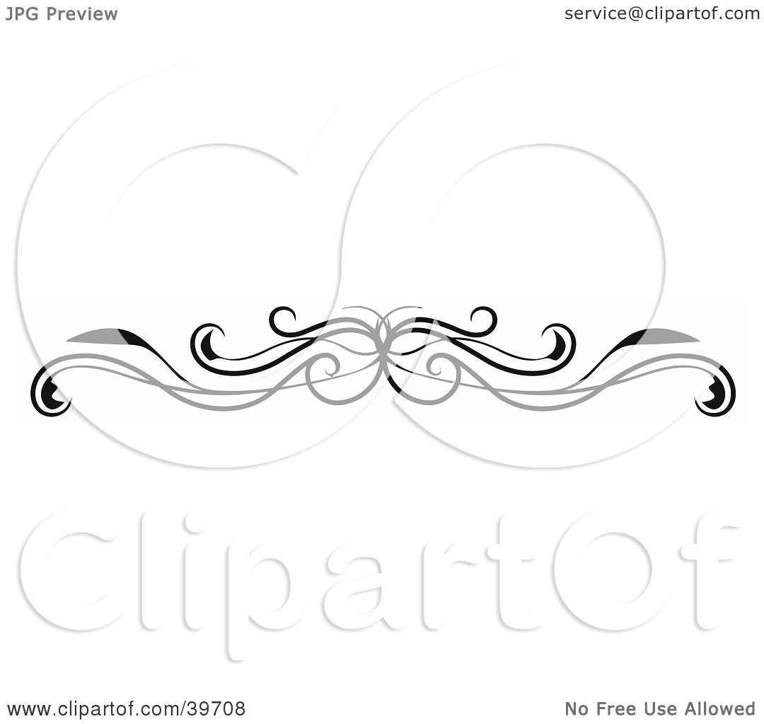 Clipart Illustration of a Black Vine Lower Back Tattoo Or Website.