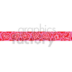 Valentine\'s day header clipart. Royalty.