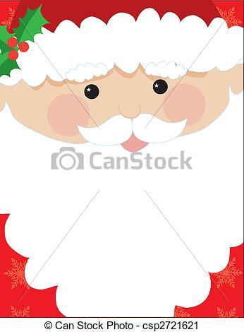 Clipart of Santa Head Frame.