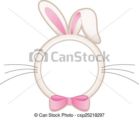 EPS Vectors of Easter bunny head frame.