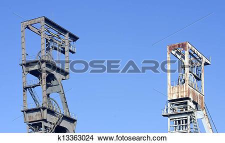 Stock Photo of head frame of mine shafts k13363024.