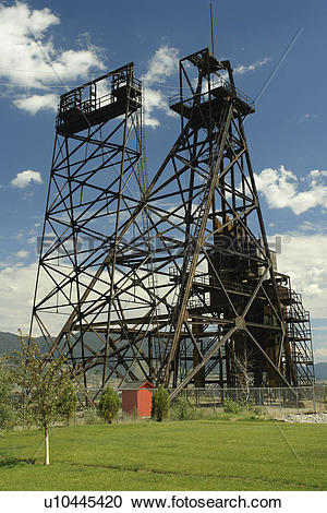 Stock Photography of Butte, MT, Montana, Berkeley Pit, old open.