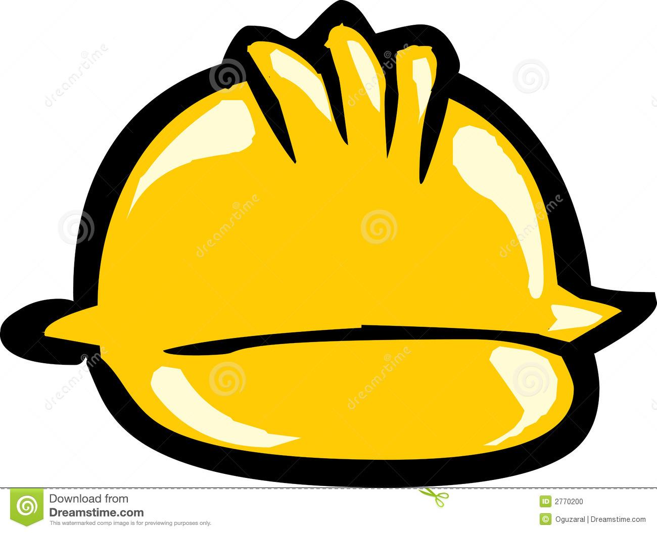 Yellow Safety Headgear Stock Photo.